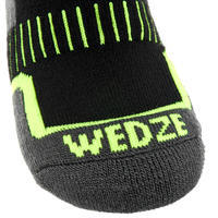 CHILDREN'S SKIING SOCKS 100 - BLACK