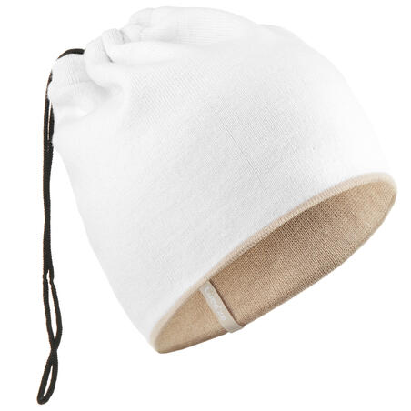 ADULT SKIING REVERSIBLE NECK WARMER SNOW - WHITE