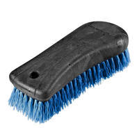 Schooling Large Horse Riding Dandy Brush - Blue