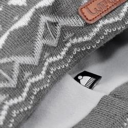 Skimütze Jacquard Erwachsene grau