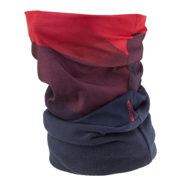 成人滑雪高科技脖圍Hug - 藍色紅色