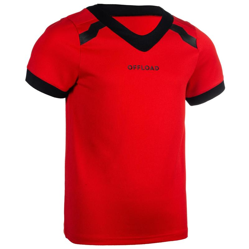 MAILLOT MANCHES COURTES rugby CLUB R100 adulte rouge