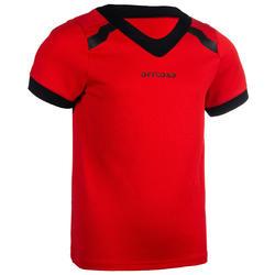 CAMISOLA DE MANGA CURTA de Rugby CLUB R100 Adulto Vermelho