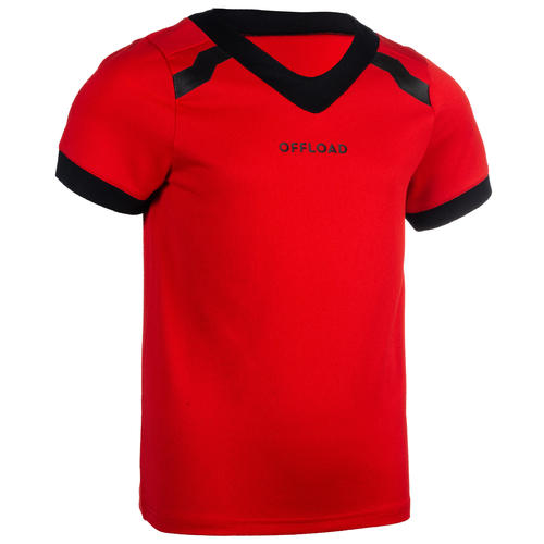 MAILLOT rugby CLUB R100 adulte rouge