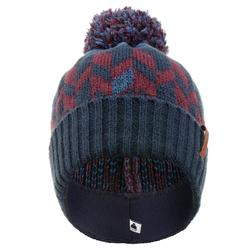 BONNET DE SKI GRAND NORD ADULTE MARINE BORDEAUX