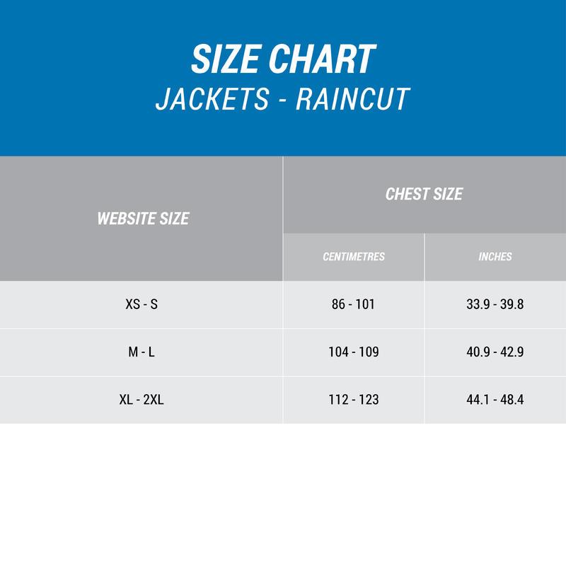 Men's Raincoat NH100 - Blue