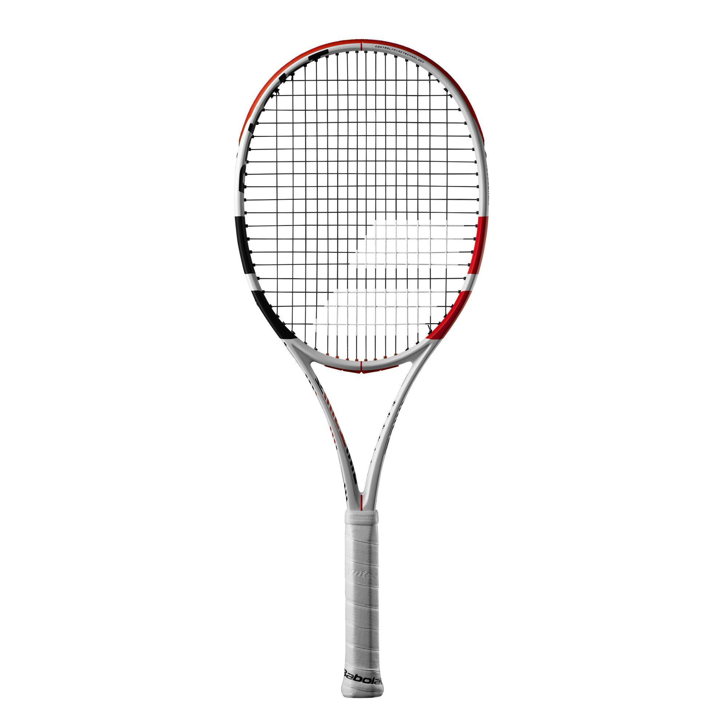 Raquette de tennis adulte pure strike 100 blanc rouge babolat
