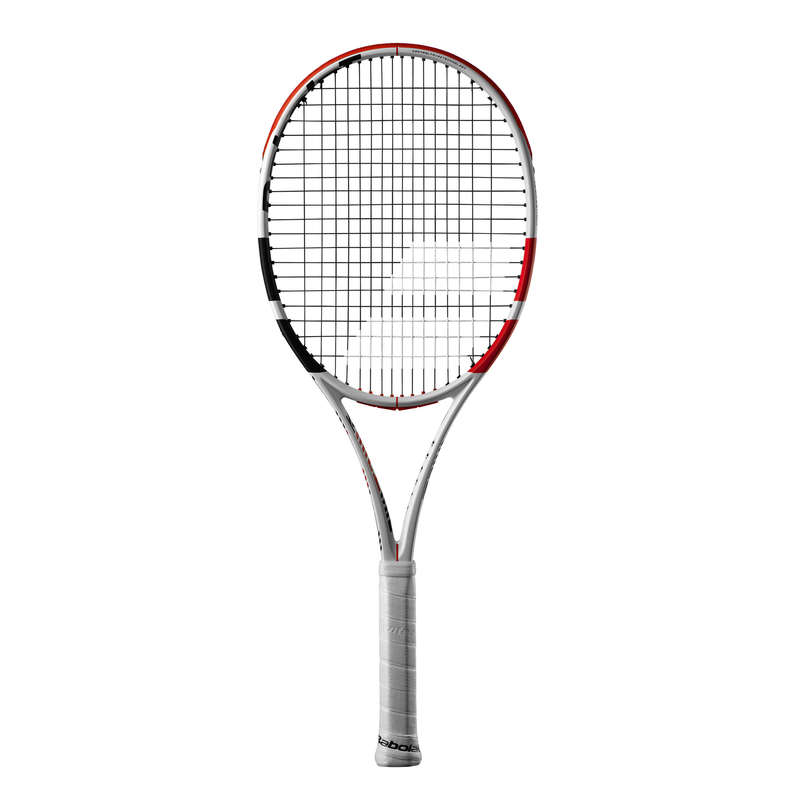 ADULT ADVANCED RACKETS Tennis - Pure Strike 100 - White/Red BABOLAT - Tennis