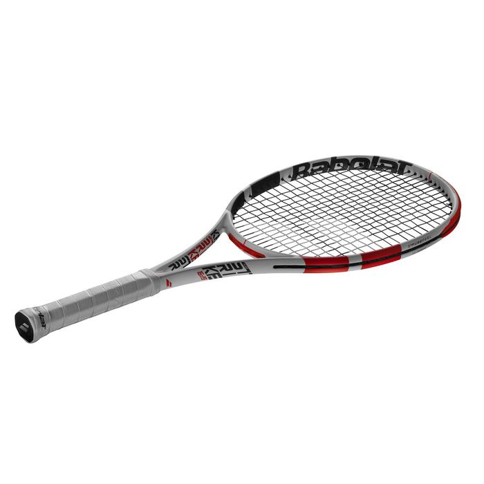RAQUETTE DE TENNIS ADULTE PURE STRIKE BLANC ROUGE