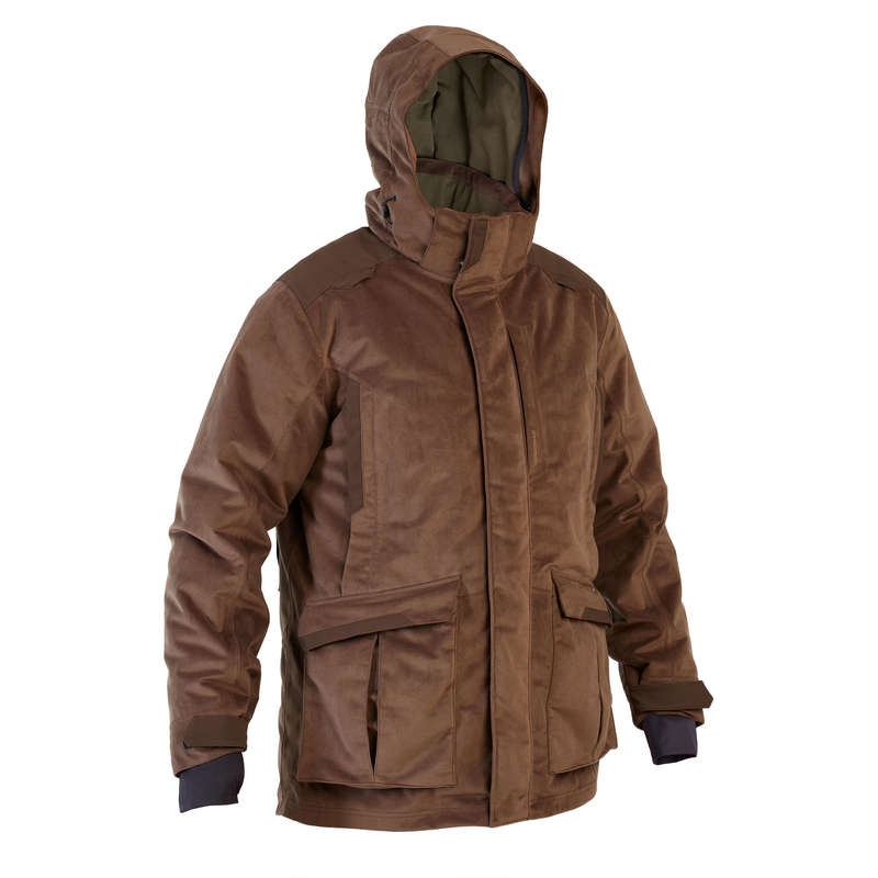 WARM CLOTHING Shooting and Hunting - 3-in-1 Warm Jacket 900 Brown SOLOGNAC - Hunting and Shooting Clothing