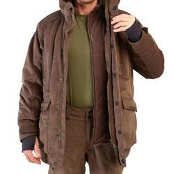 Veste 3 en 1 chasse imperméable chaude 900 marron