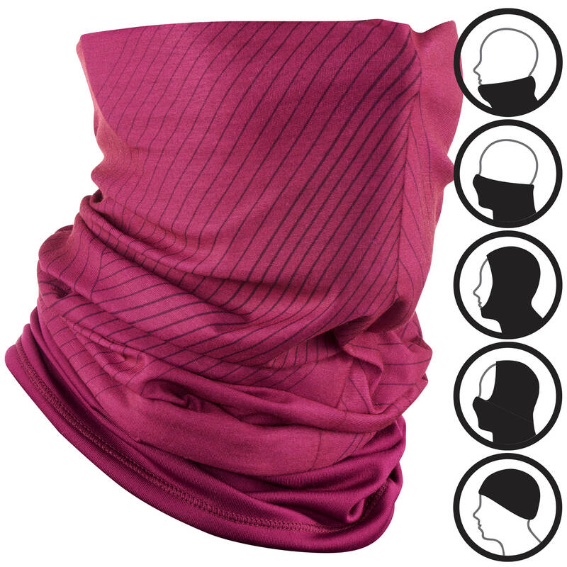 LYŽAŘSKÉ ČEPICE DOSPĚLÍ Lyžování - NÁKRČNÍK HUG FIALOVÝ  WEDZE - Lyžařské oblečení a doplňky