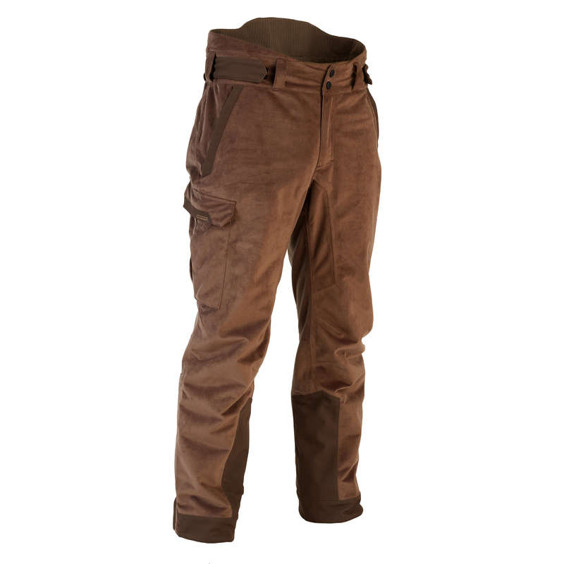 WARM CLOTHING Shooting and Hunting - WARM TROUSERS 900 - BROWN SOLOGNAC - Hunting and Shooting Clothing