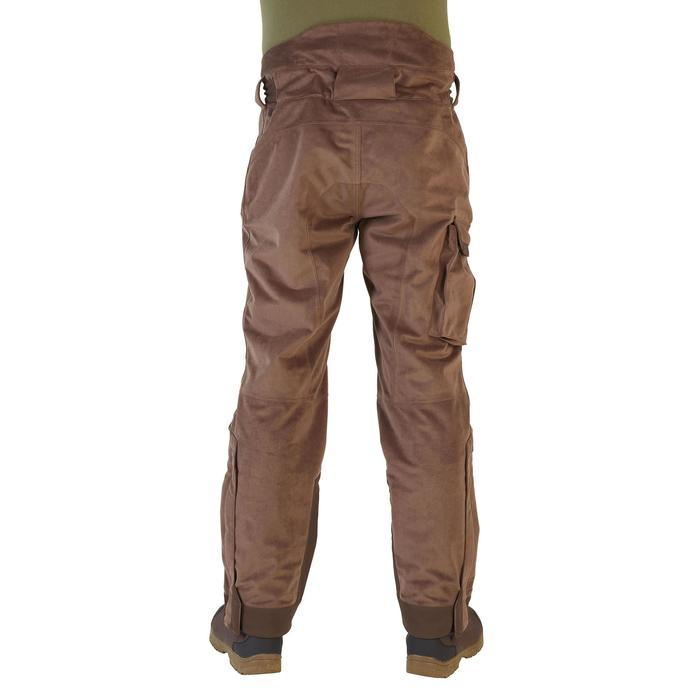 Pantalon Caza Solognac 900 Impermeable Calido Marron