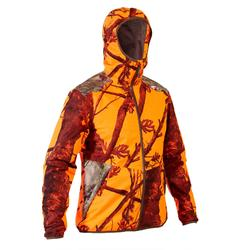 Jagd-Regenjacke geräuscharm light 500 Camouflage orange