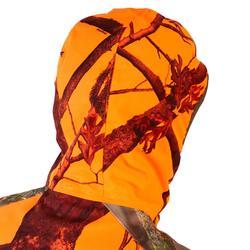 Chaqueta Caza Solognac Ligera Impermeable Silenciosa Camuflaje Naranja Fluo