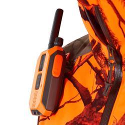 Jagd-Regenjacke Light geräuscharm camouflage/neon