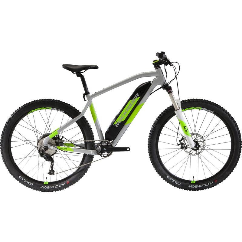 "27.5"" Electric Mountain Bike E-ST500 V2 - Grey/Yellow"