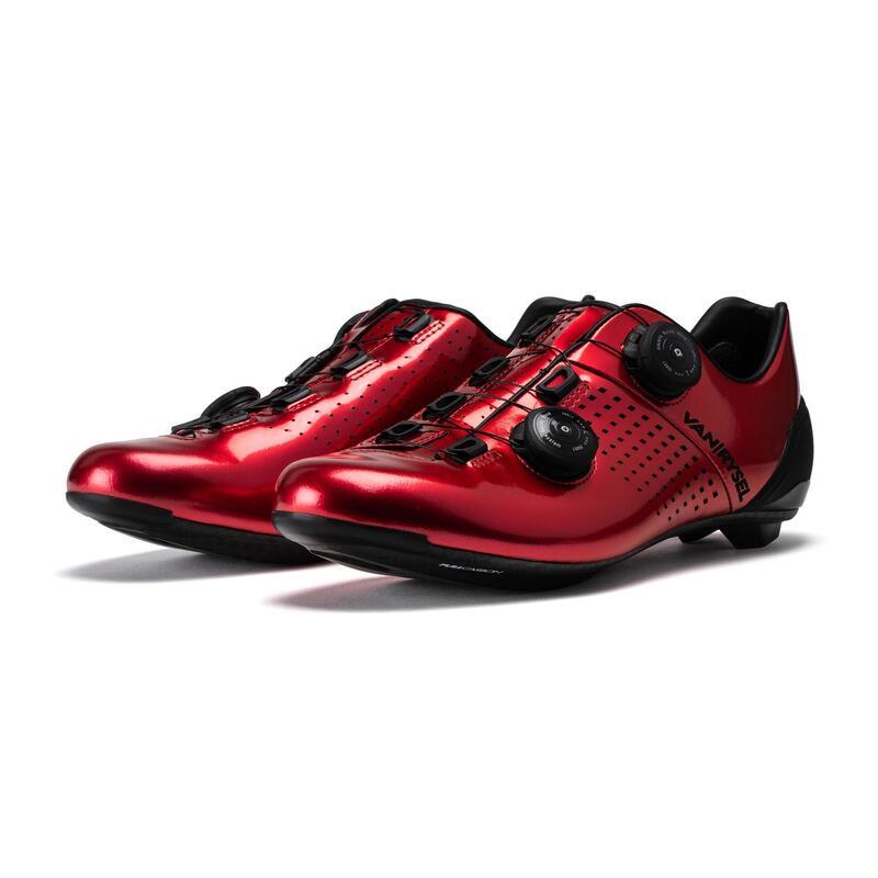 Fietsschoenen voor sportief wielrennen VAN RYSEL rood
