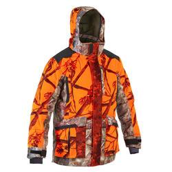 Jacke 900 warm 3-in-1 camouflage neon