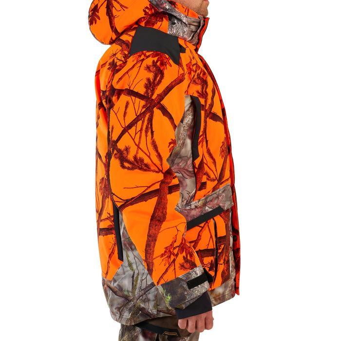 Warme en waterdichte 3-in-1 camouflagejas voor de jacht 900 fluo