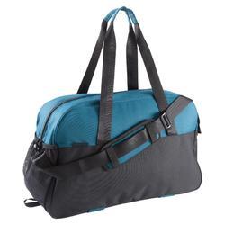 Bolsa de deporte gimnasio Cardio Fitness Domyos 30 litros negro azul