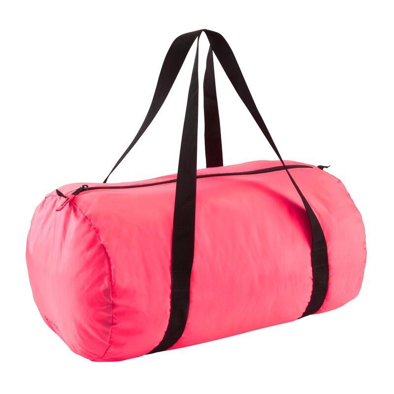 Borsa fitness pieghevole 30L rosa
