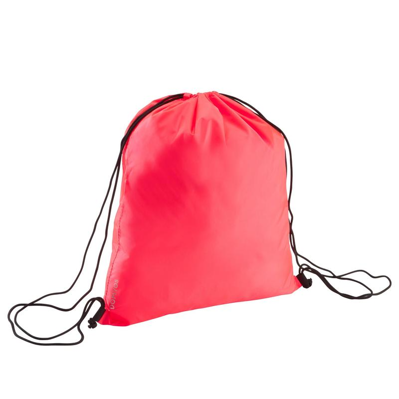 Sac à chaussures fitness pliable rose corail