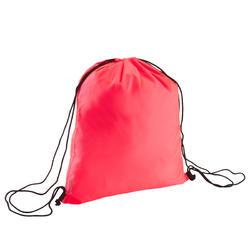 Bolsa para calzado fitness plegable rosa coral
