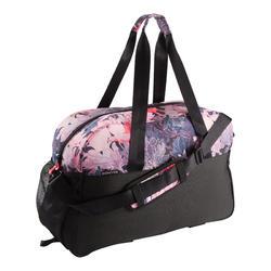 Bolsa de deporte gimnasio Cardio Fitness Domyos 30 litros negro rosa