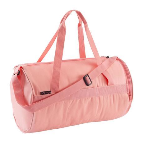 04a044b3c77e66 Fitness Cardio Training Bag 20 Litres - Salmon Pink | Domyos by Decathlon