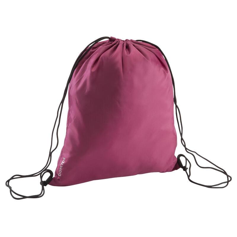 Fold-Down Fitness Shoe Bag - Burgundy