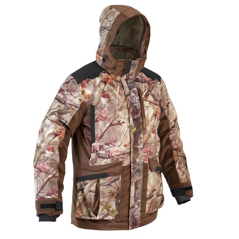 WARM WATERPROOF 3-IN-1 HUNTING JACKET 900 FOREST CAMOUFLAGE