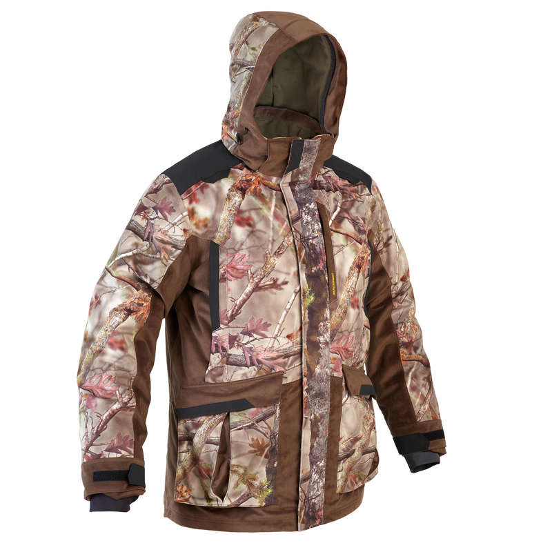 POSTED CAMOUFLAGE CLOTHING Shooting and Hunting - 3/1 WARM JACKET 900 CAMO BR SOLOGNAC - Hunting Types