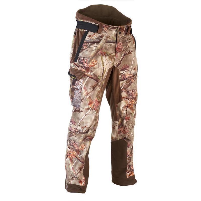 Warme en waterdichte camouflagebroek voor de jacht bruin900