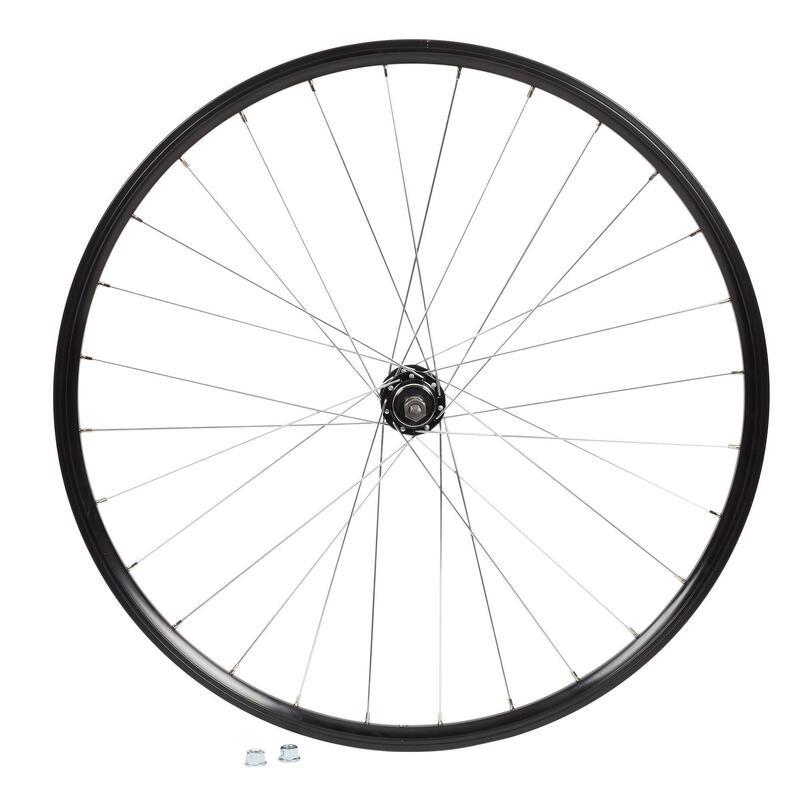 "Rueda Bici MTB 27,5"" Trasera V-Brake Doble Pared Piñón Libre Rosca Negro"