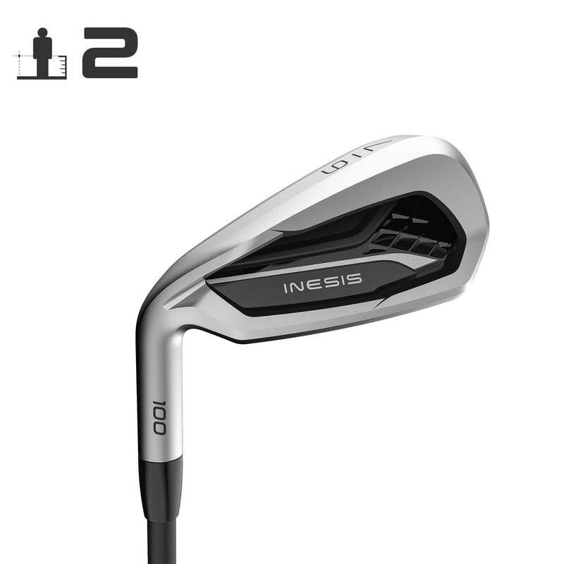 MAZZE GOLF GIOCATORE PRINCIPIANTE Golf - Ferro adulto mancino 100 T2 INESIS - Mazze da golf