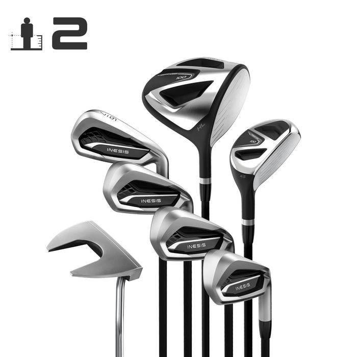 Kit Golf 100 Adulto 7 Palos Diestro Talla 2