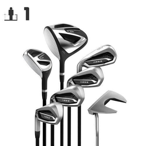 KIT GOLF 7 CLUBS ADULTE 100 GAUCHER TAILLE 1 GRAPHITE
