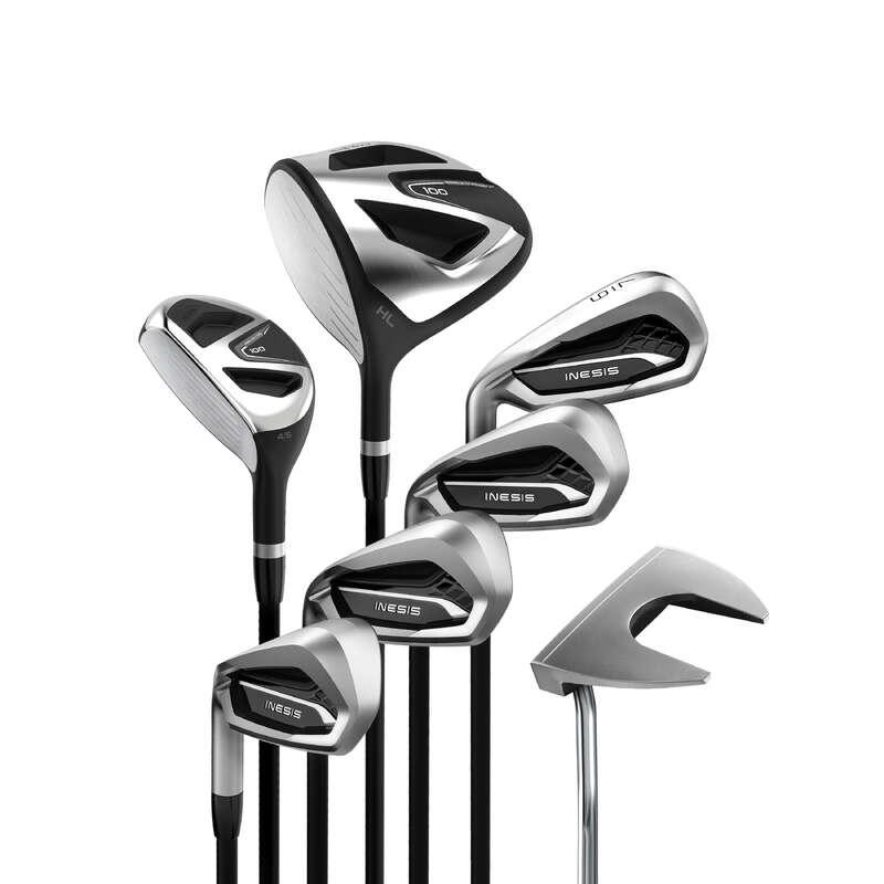 BEGINNER GOLF CLUBS Golf - Golf Set 100 - Left Handed Size 1 INESIS - Golf Clubs
