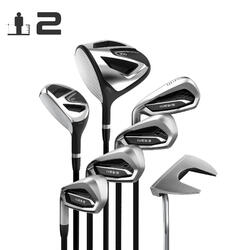 Golfset 100 van 7 clubs voor volwassenen linkshandig maat 2