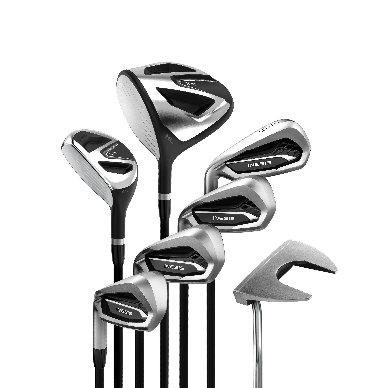 Kit de golf 7 clubs adulte 100 gaucher taille 2 inesis