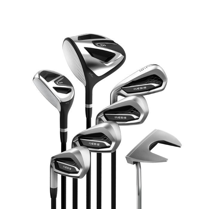 Kit Golf 100 Adulto 7 Palos Zurdo Grafito Talla 2