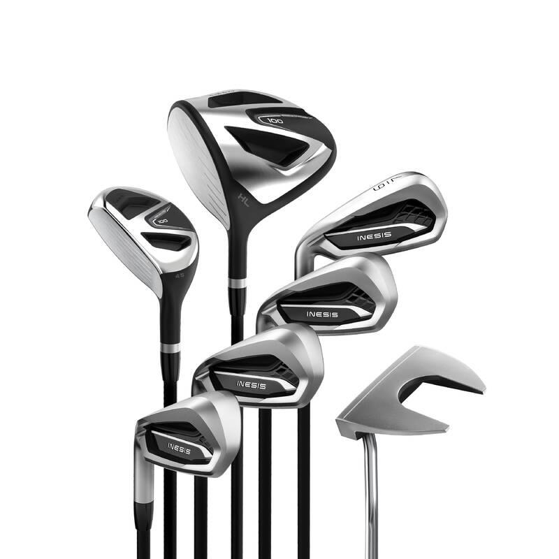 GOLFOVÉ HOLE PRO ZAČÁTEČNÍKY Golf - GOLFOVÝ SET 100 PRO LEVÁKY V2 INESIS - Golfové hole a sety