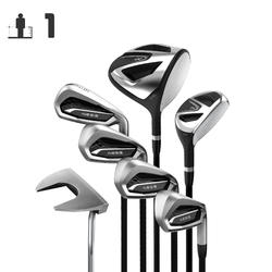Golf Kit 7 Clubs Adult 100 Right Handed Graphite Size 1