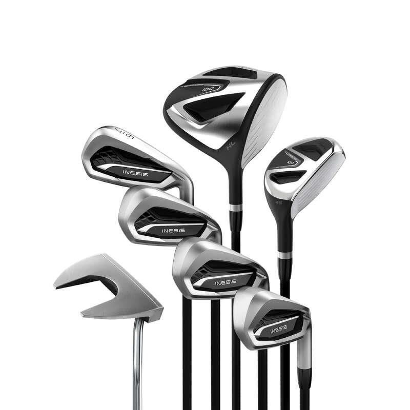 GOLFKLUBBOR NYBÖRJARE Golf - Golfset höger grafit 100 s1 INESIS - Golfklubbor