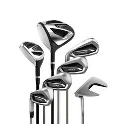 Golfset 7 clubs 100 volwassenen linkshandig maat 2 staal
