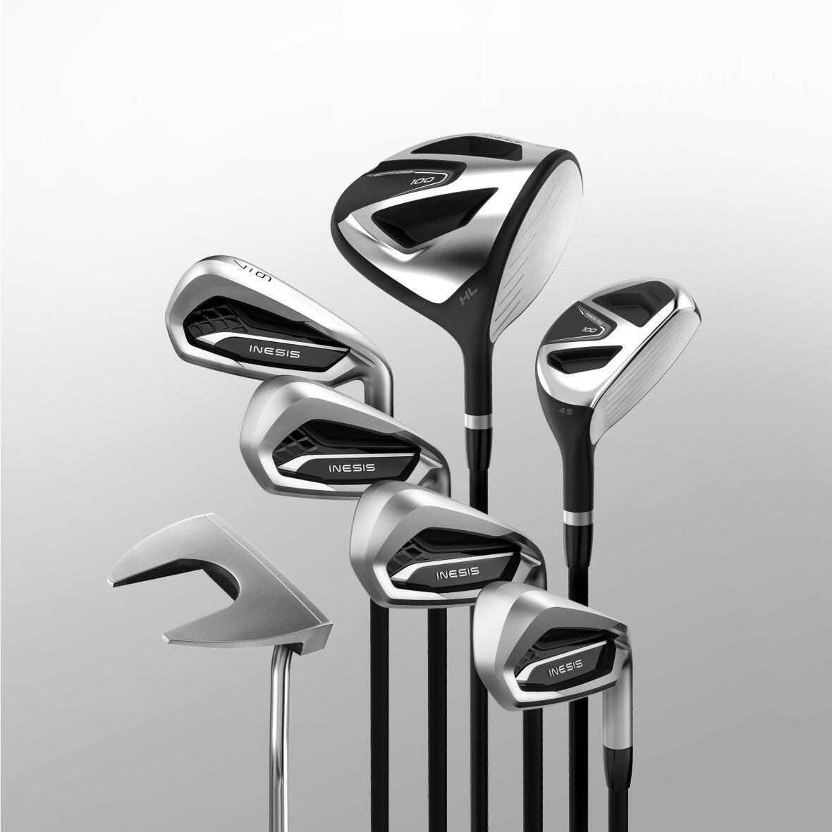 A set of golf clubs for beginner