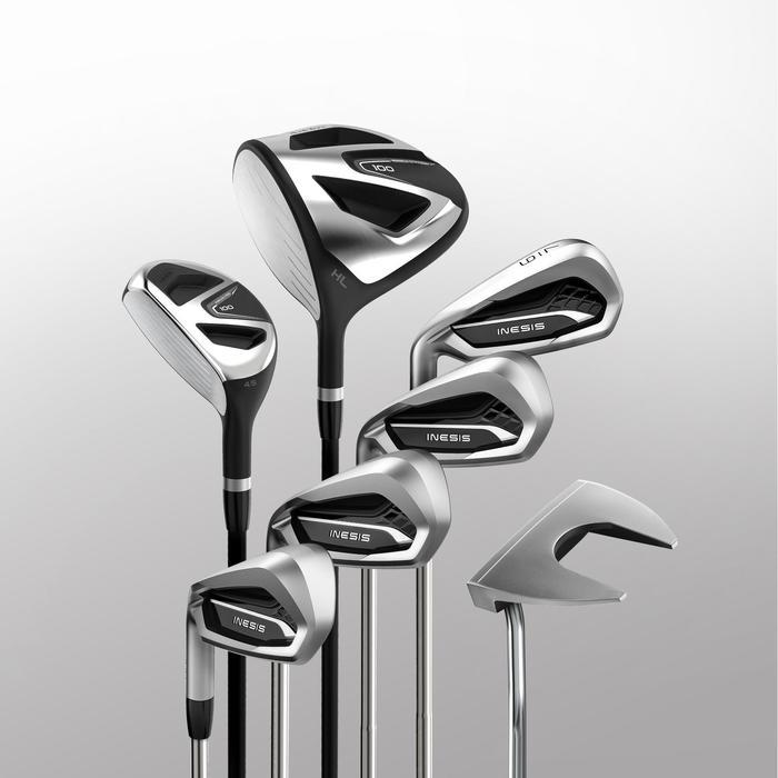 Golfschläger Set 100 Linkshand Stahl Erwachsene Größe 2