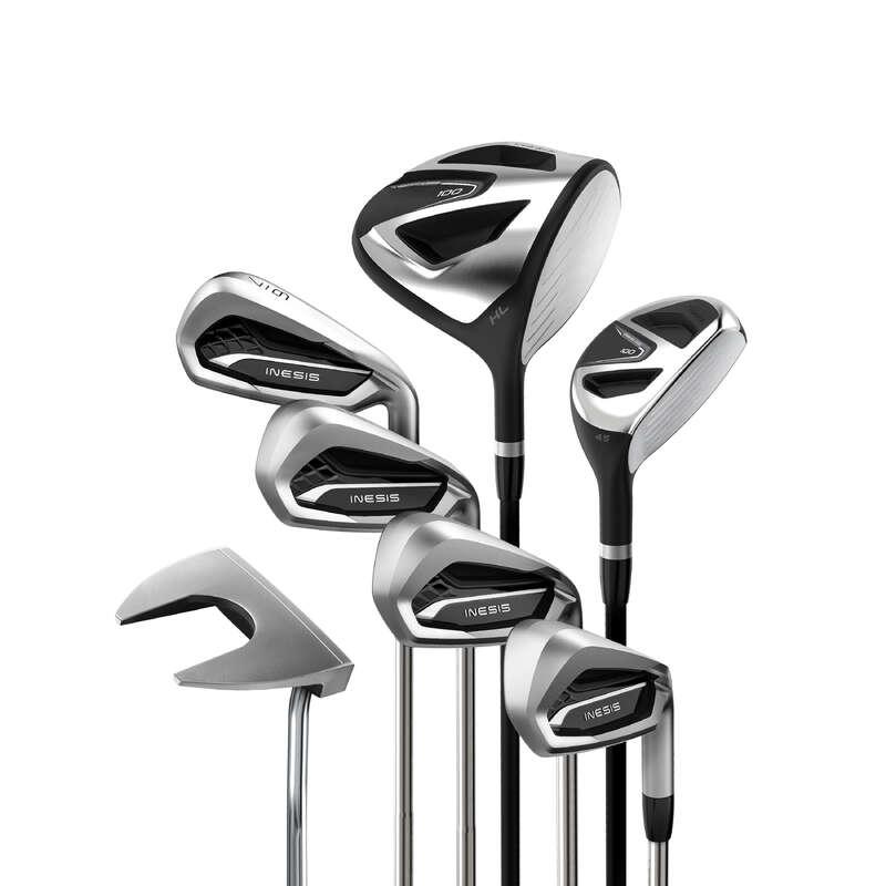 KIJE DO GOLFA DLA POCZĄTKUJĄCYCH Golf - Zestaw 7 kijów 100 RH rozm. 2 INESIS - Kije golfowe